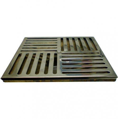 Ralo de Fundo - Metalico - 15 X 15 para Alvenaria - Nautilus