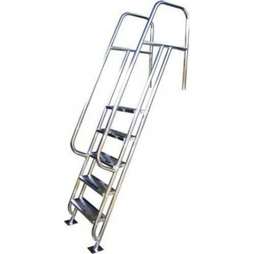 Escada para Piscina - Valência - 6 Degraus - 1,40 M - Aço Inox 304