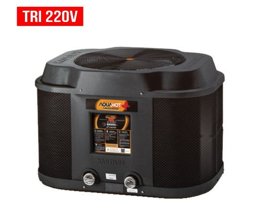 Trocador de Calor - Nautilus - Aquahot  - Black Edition -  AA-145 - Tri 220v