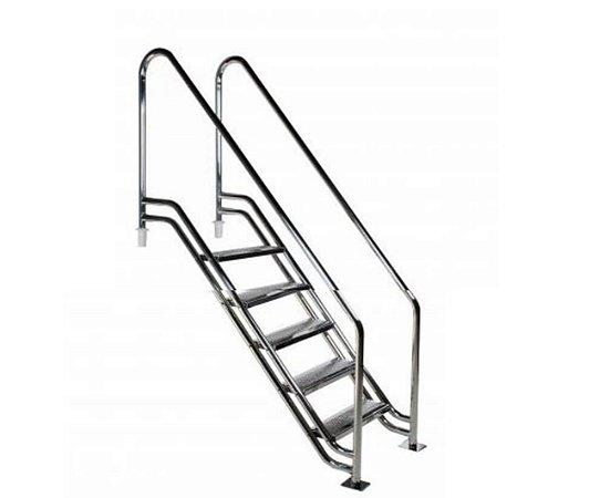 Escada para Piscina - Paris para Obesos e Fisioterápicos - 1,00 M - Aço Inox 304