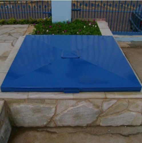 Tampa de Casa de Maquina 1,20 x 1,20 - Azul - Chapa 18