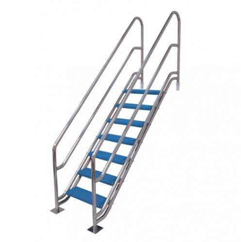 Escada para Piscina - Versalles para Obesos e Fisioterápicos - 1,10 M - Aço Inox 304
