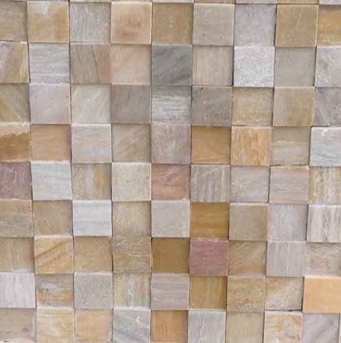 Pedra São Thomé - Mosaico - 10 X 10 - Pedra Serrada MISTA