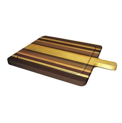 Tábua de Carne - Grande - Madeira Marfim e Jatobá - 40 X 70 cm para Churrasco