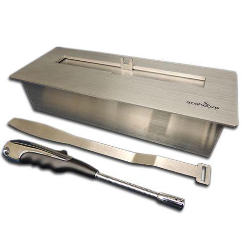 Lareira Ecológica - Álcool Etanol - Queimador Fubo 9 - 32 cm