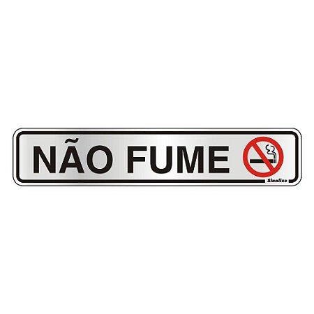 PLACA DE SINALIZAÇÃO ALUMÍNIO 05 x 25 CM - NÃO FUME