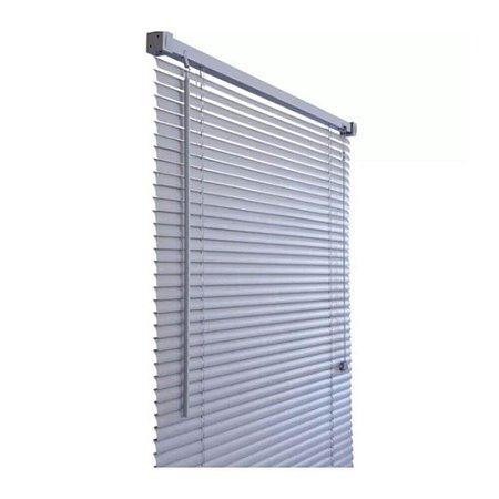 PERSIANA HORIZONTAL PVC CINZA L140CM X A130CM X 25MM