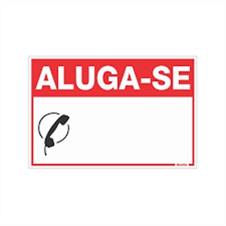 PLACA DE SINALIZAÇÃO PVC 20 x 30 CM - ALUGA-SE
