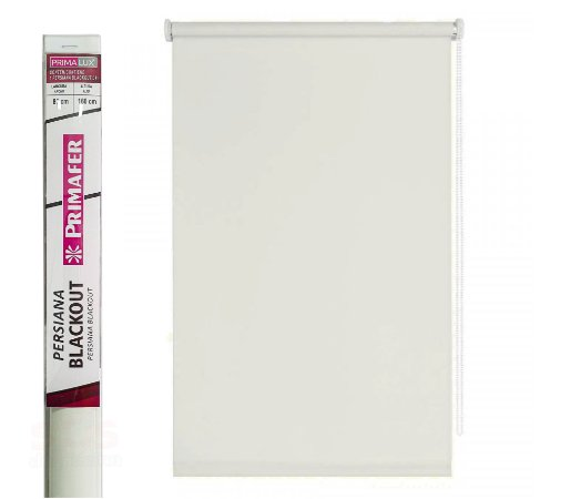 Persiana Blackout  Rolo - L 80 cm x A 160 cm  Primafer  Bege