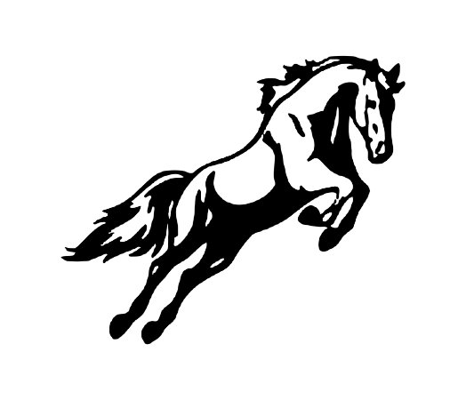 Adesivo Para Todos Os Veículos - Cavalo - 20 x 16,7 cm