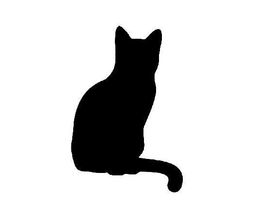 Adesivo Para Todos Os Veículos - Gato De Costas - 18 x 12 Cm