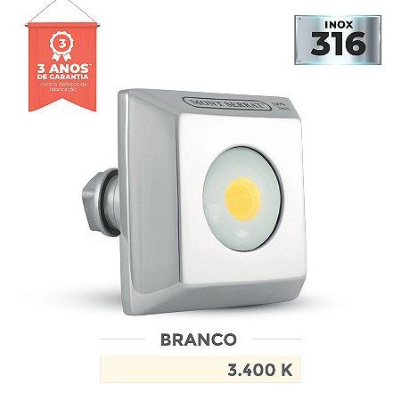 REFLETOR PARA PISCINA QUADRADO MONO - 10 W  3.400K BRANCO