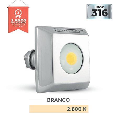 REFLETOR PARA PISCINA QUADRADO MONO - 10 W  2.600K BRANCO