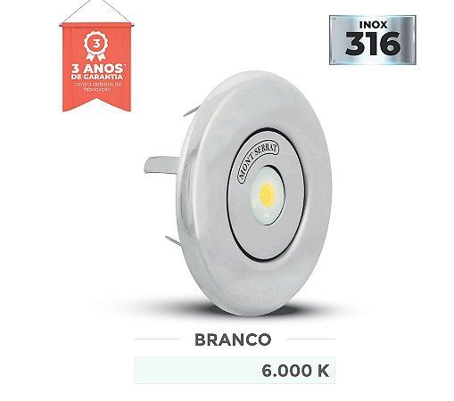 REFLETOR PARA PISCINA REDONDO MONO - 10 W NICHO 6.000K BRANCO