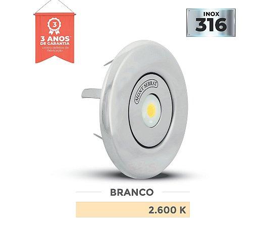 REFLETOR PARA PISCINA REDONDO MONO - 10 W NICHO 2.600K BRANCO