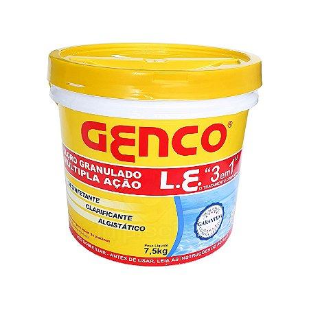 Cloro Granulado Genco 7,5 Kg - Múltipla Ação - 3 em 1