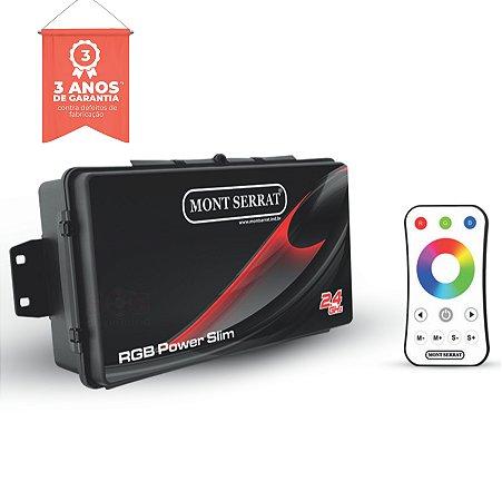 Caixa de Comando - Central Power Slim para 10 Super Leds RGB - Com Controle