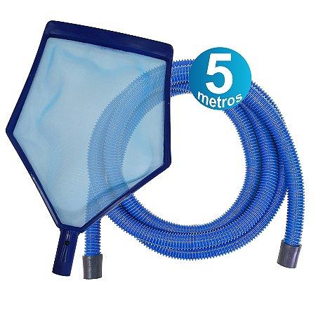 Kit Peneira + Mangueira 5 M - para piscinas infláveis
