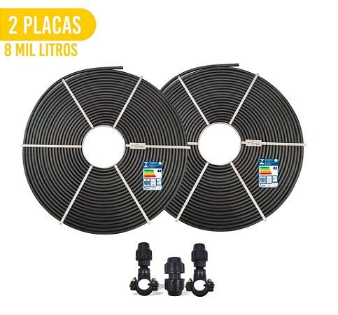 Kit 2 Placas - Aquecedor Solar Para Piscina - 8.000 L