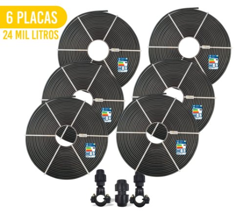 Kit 6 Placas - Aquecedor Solar Para Piscina - 24.000 L