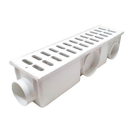 Ralo Coletor Branco Em Pvc - 15x50 Cm