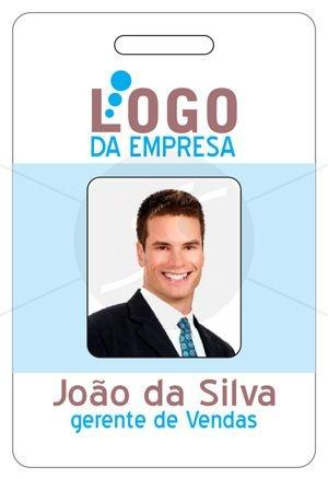 Crachá Personalizado Frente e Verso com Foto