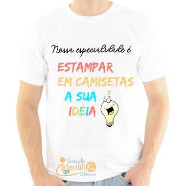 Camiseta Branca 100% Poliéster