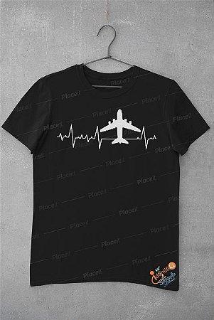 Camiseta Preta Batimentos Cardíacos