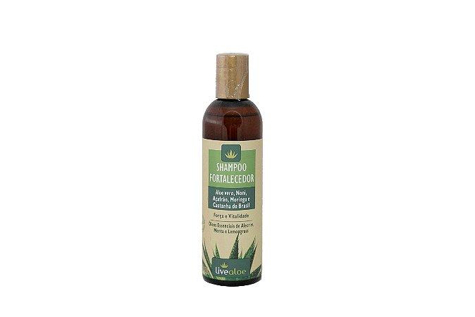 Shampoo Fortalecedor Aloe vera, Noni e Açafrão Livealoe 240ml