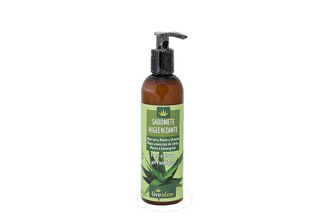 Sabonete Higienizante Aloe vera, Neem e Urucum Livealoe 240ml