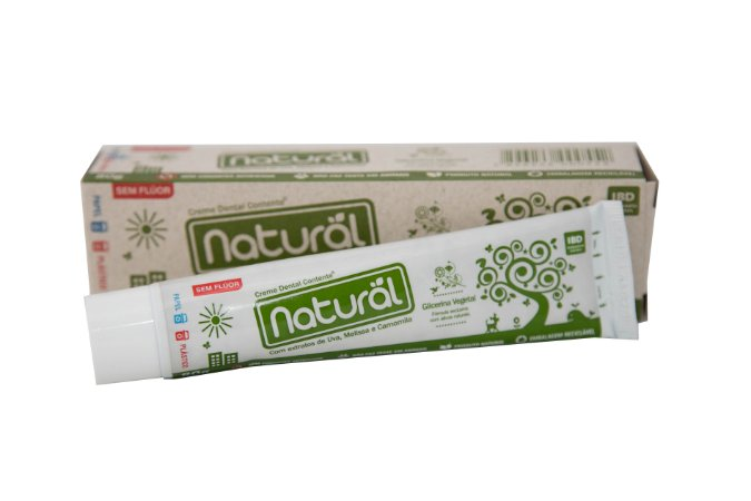 Creme Dental Natural e Vegano Contente 80gr