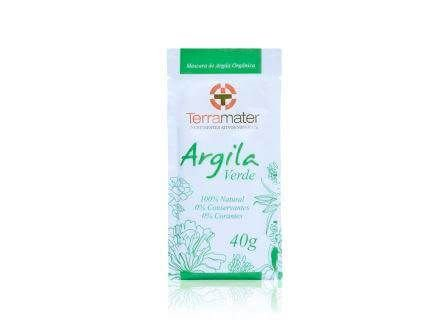 Argila Verde Natural e Orgânica Terramater 40g