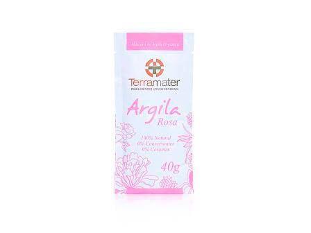 Argila Rosa Natural e Orgânica Terramater 40g