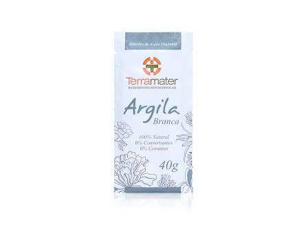 Argila Branca Natural e Orgânica Terramater 40g