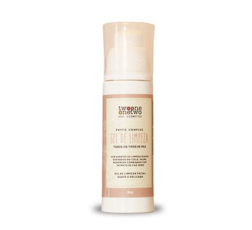 Gel de Limpeza Facial Vegano Sulfate Free Chá Verde Twoone Onetwo 30ml