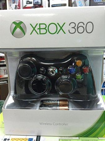 Controle Xbox 360 sem Fio com pilha