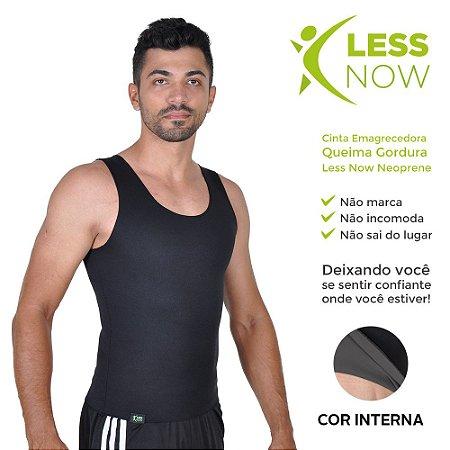 Cinta Masculina Emagrecedora Queima Gordura Less Now T-shirt Preta