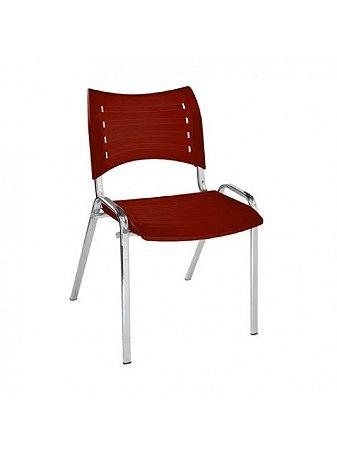 Cadeira Iso Fixa com Base Cromada