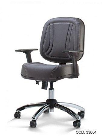 Cadeira Diretor Operativa Giratória com Base Cromada