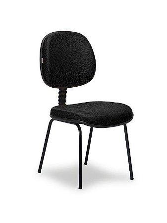 Cadeira Executiva Revestida em Tecido com Base Fixa