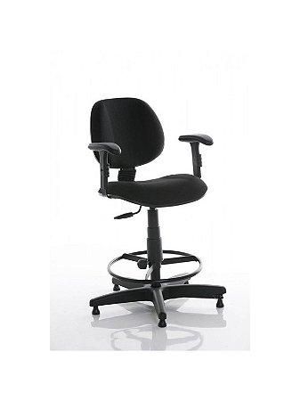 Cadeira Executiva com Base Giratória, Braço e Caixa