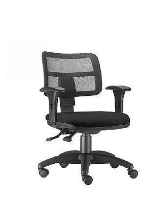 Cadeira Giratória com Braço Executiva Zip Tela