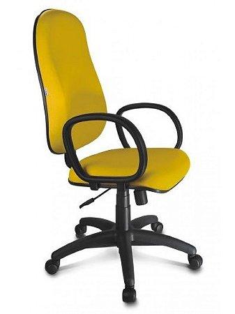 Cadeira Presidente Com Braço Giratória Lisa