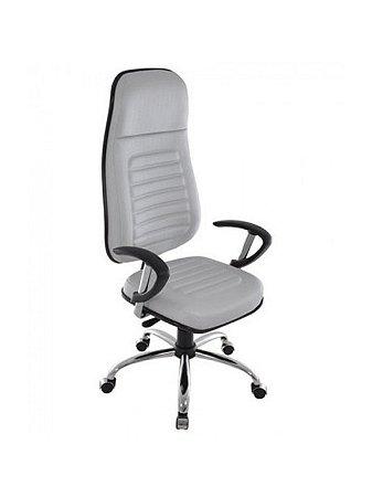 Cadeira Presidente com Base Giratória Cromada