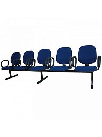 Cadeira Longarina com 5 Lugares Diretor com Braço