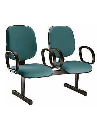 Cadeira Longarina com 2 Lugares Diretor com Braço