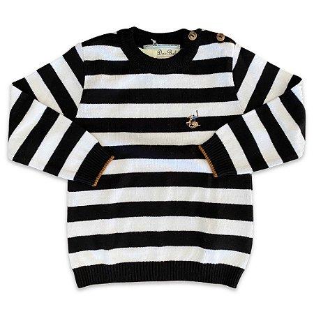 Tricô Infantil Listrado Bicolor - Dame Dos - Tam M a 6
