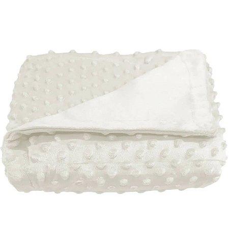 Cobertor para Berço Poá Branco