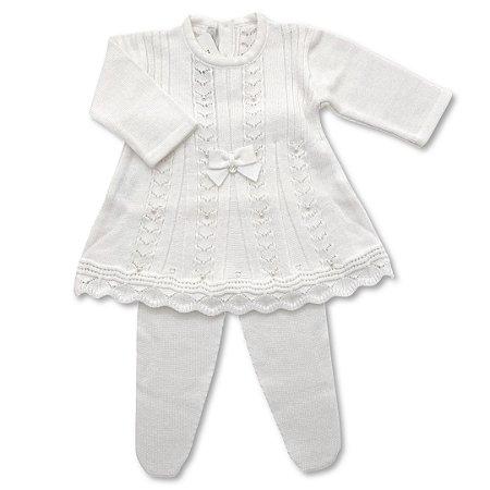 Vestido Saída de Maternidade Sidney - Branco - Tamanho P