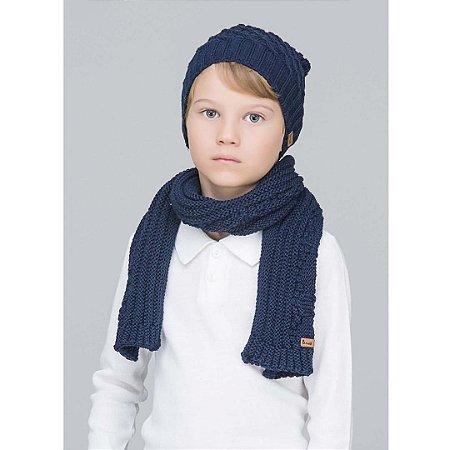 Cachecol Infantil Azul Marinho